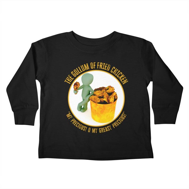 The Gollum of Fried Chicken Kids Toddler Longsleeve T-Shirt by MaddFictional's Artist Shop
