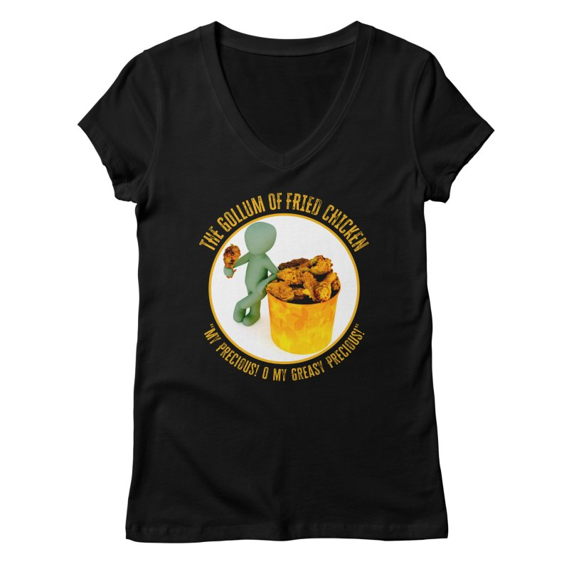 The Gollum of Fried Chicken Women's V-Neck by MaddFictional's Artist Shop