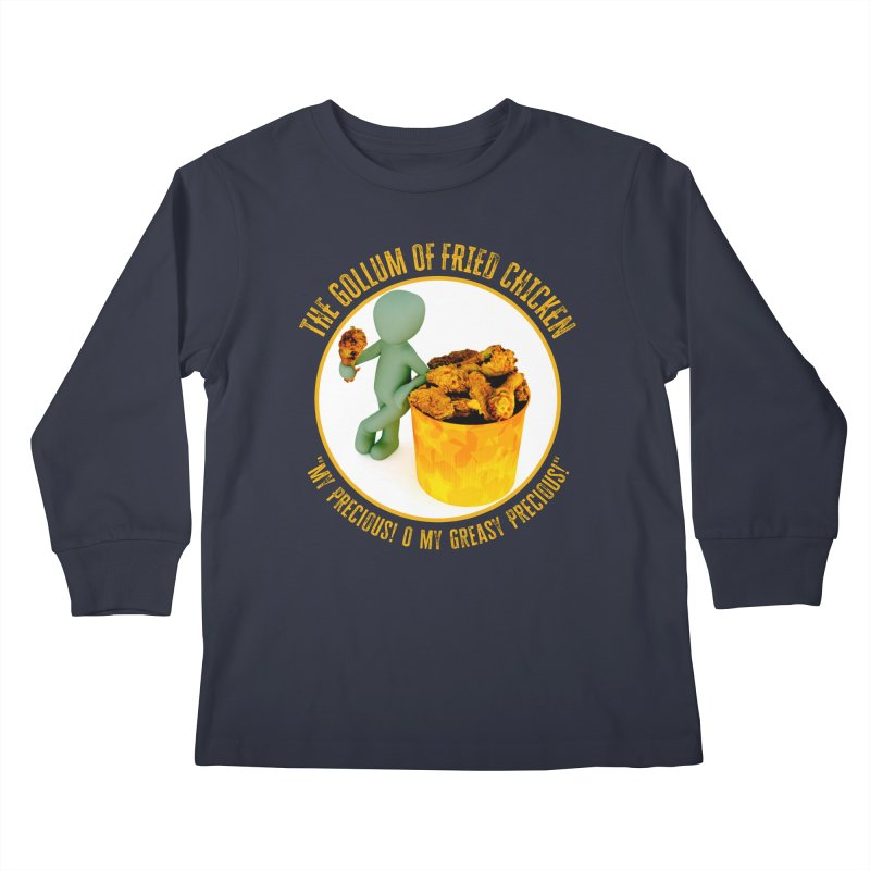 The Gollum of Fried Chicken Kids Longsleeve T-Shirt by MaddFictional's Artist Shop