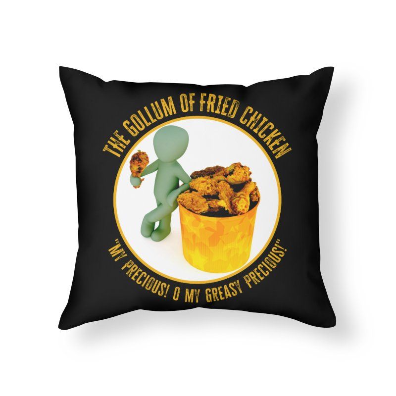 The Gollum of Fried Chicken Home Throw Pillow by MaddFictional's Artist Shop