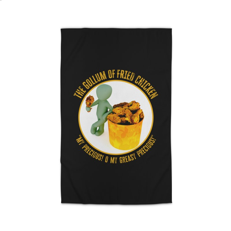 The Gollum of Fried Chicken Home Rug by MaddFictional's Artist Shop