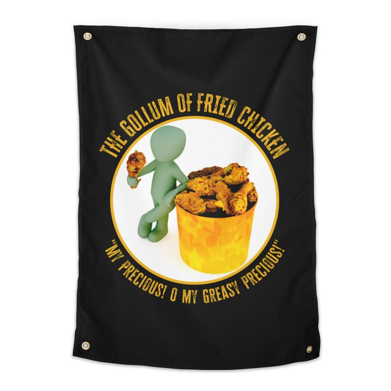 The Gollum of Fried Chicken Home Tapestry by MaddFictional's Artist Shop