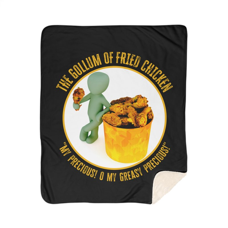 The Gollum of Fried Chicken Home Blanket by MaddFictional's Artist Shop