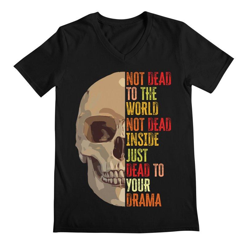 Not Dead Men's V-Neck by MaddFictional's Artist Shop