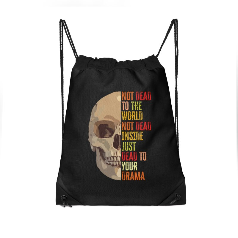 Not Dead Accessories Bag by MaddFictional's Artist Shop
