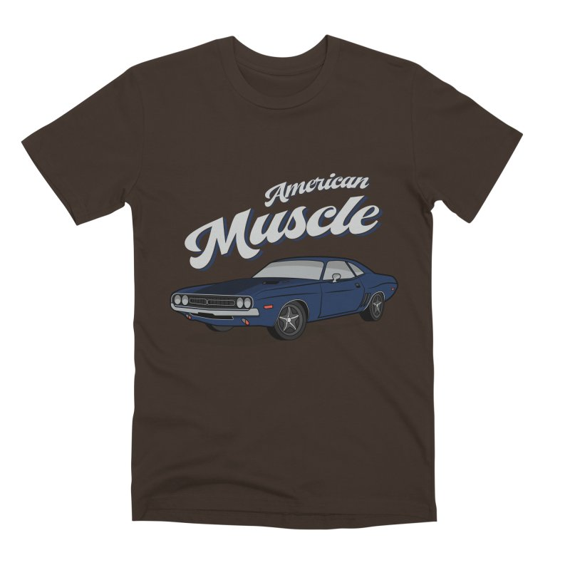 American Muscle Car 60s 70s Vintage Men's Premium T-Shirt by MadeByBono