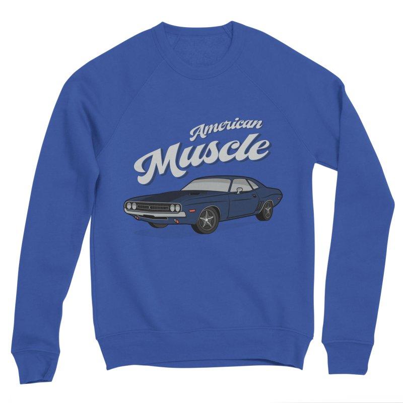 American Muscle Car 60s 70s Vintage Women's Sponge Fleece Sweatshirt by MadeByBono