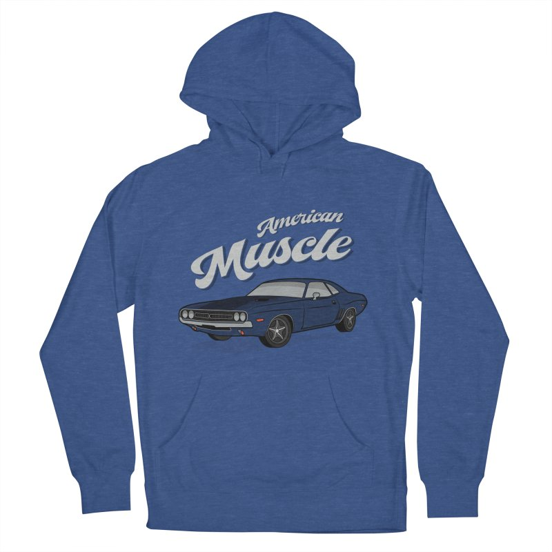 American Muscle Car 60s 70s Vintage Men's French Terry Pullover Hoody by MadeByBono