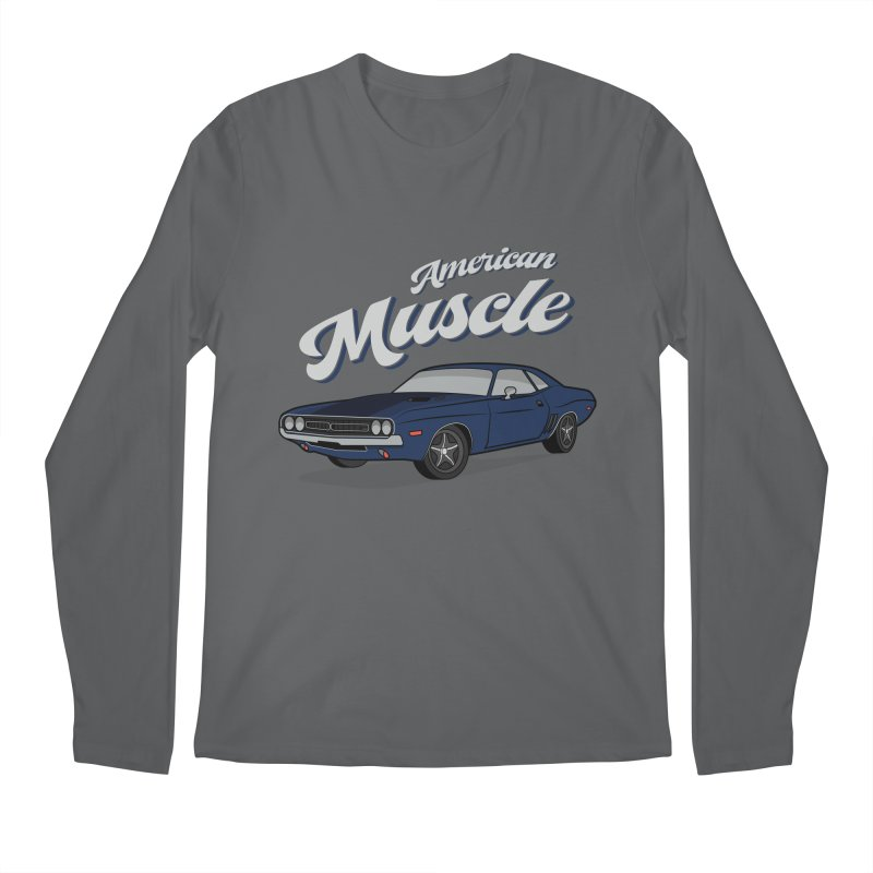American Muscle Car 60s 70s Vintage T-shirt Men's Longsleeve T-Shirt by MadeByBono