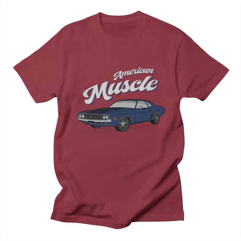 American Muscle Car 60s 70s Vintage Men's Regular T-Shirt by MadeByBono