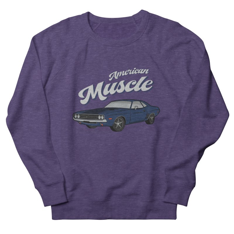 American Muscle Car 60s 70s Vintage Women's French Terry Sweatshirt by MadeByBono