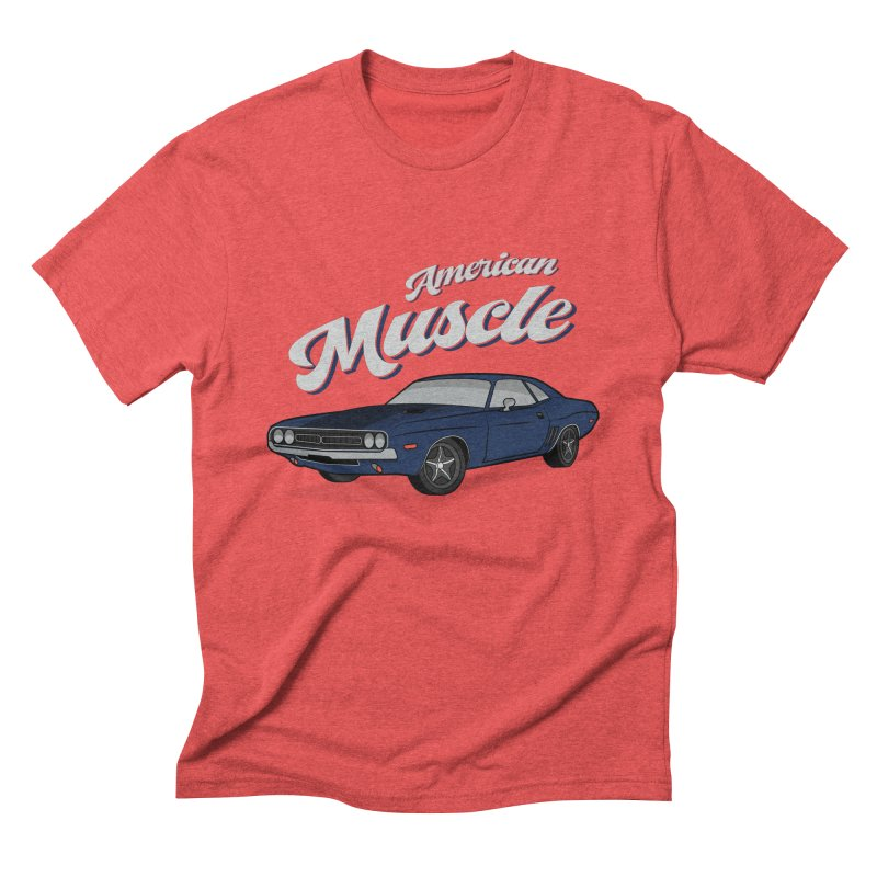 American Muscle Car 60s 70s Vintage Men's Triblend T-Shirt by MadeByBono
