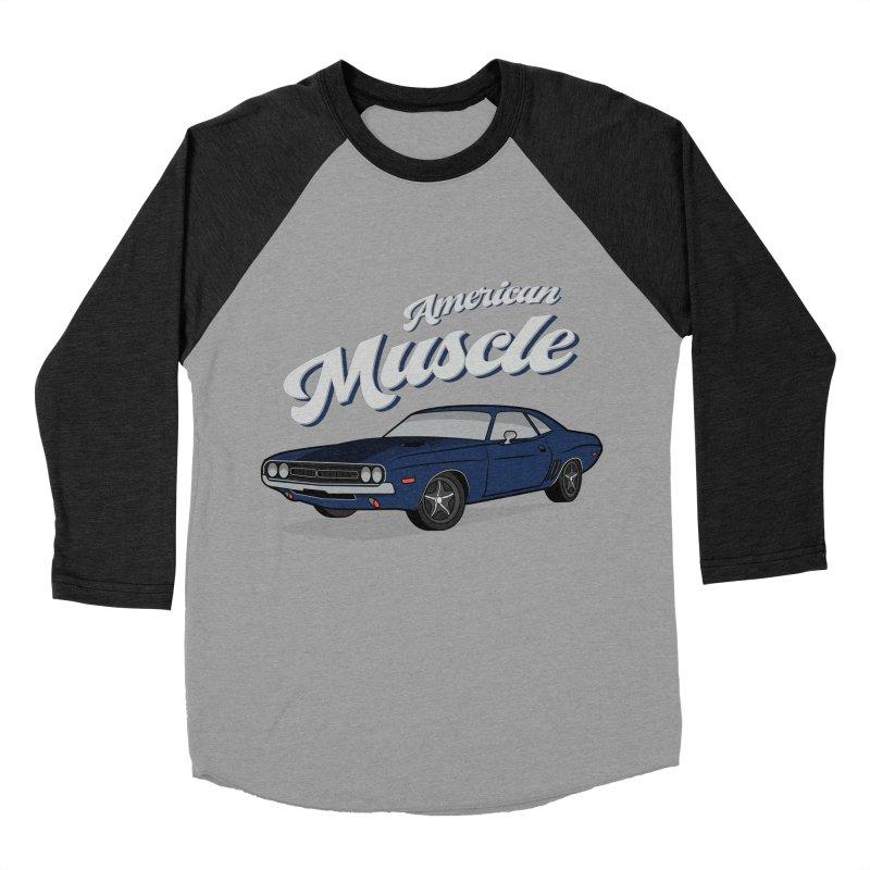 American Muscle Car 60s 70s Vintage Women's Baseball Triblend Longsleeve T-Shirt by MadeByBono