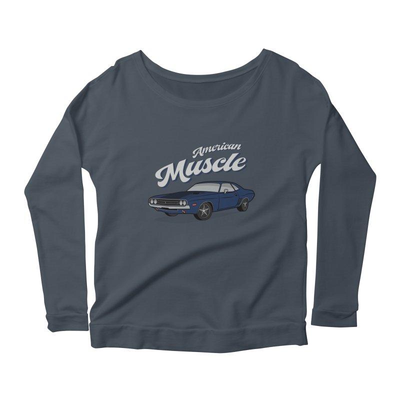 American Muscle Car 60s 70s Vintage Women's Scoop Neck Longsleeve T-Shirt by MadeByBono