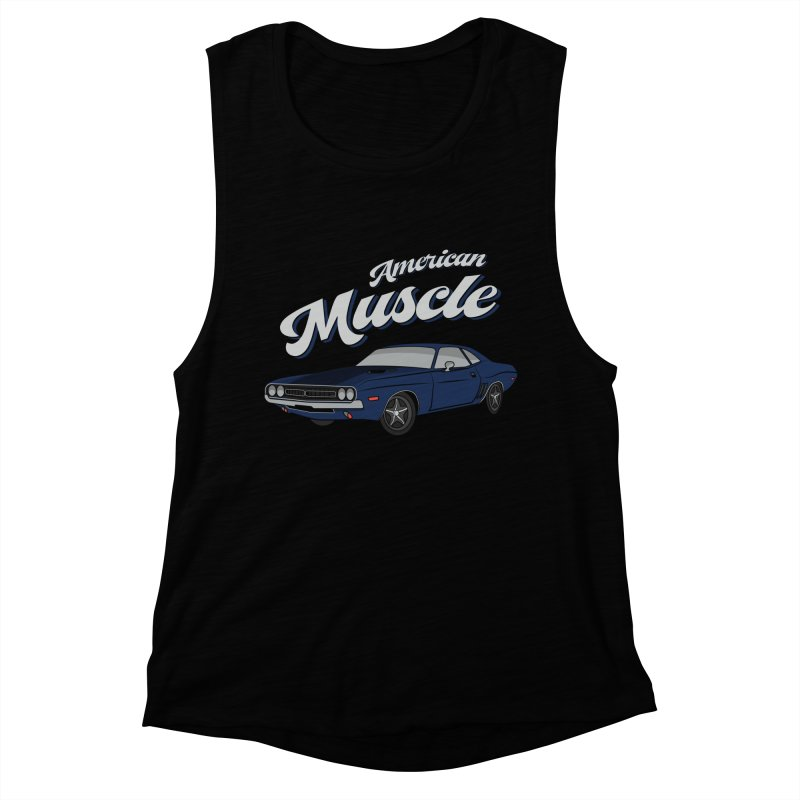 American Muscle Car 60s 70s Vintage Women's Muscle Tank by MadeByBono