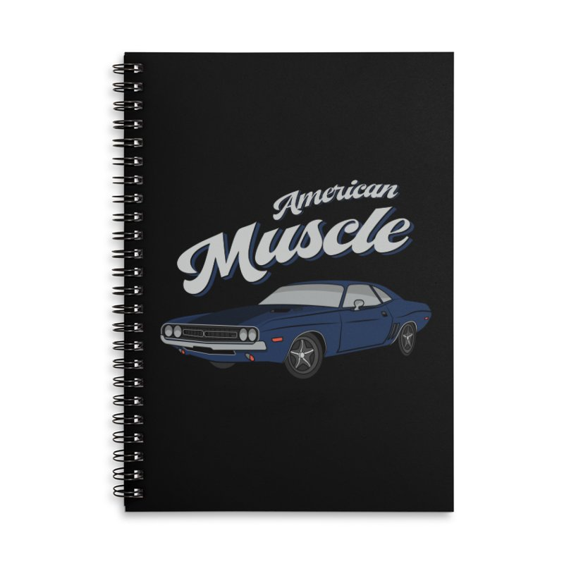 American Muscle Car 60s 70s Vintage T-shirt Accessories Notebook by Made By Bono