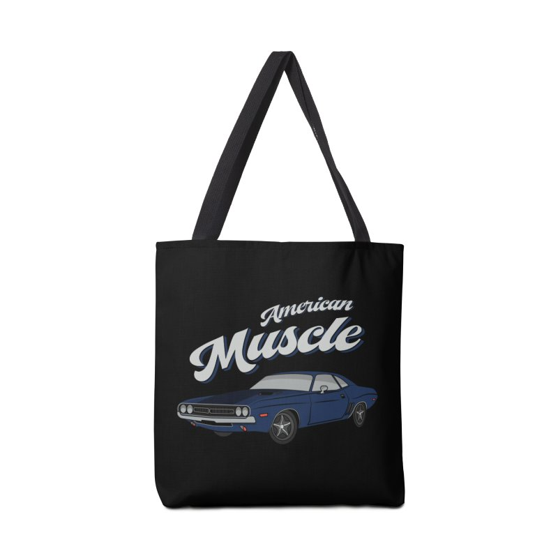 American Muscle Car 60s 70s Vintage Accessories Tote Bag Bag by MadeByBono