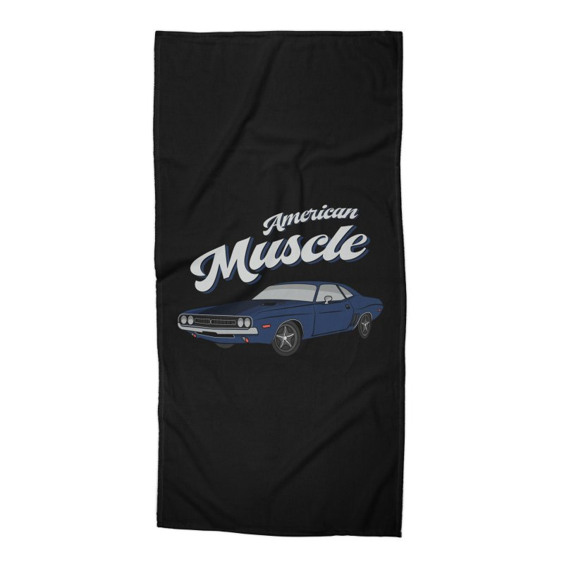 American Muscle Car 60s 70s Vintage Accessories Beach Towel by MadeByBono