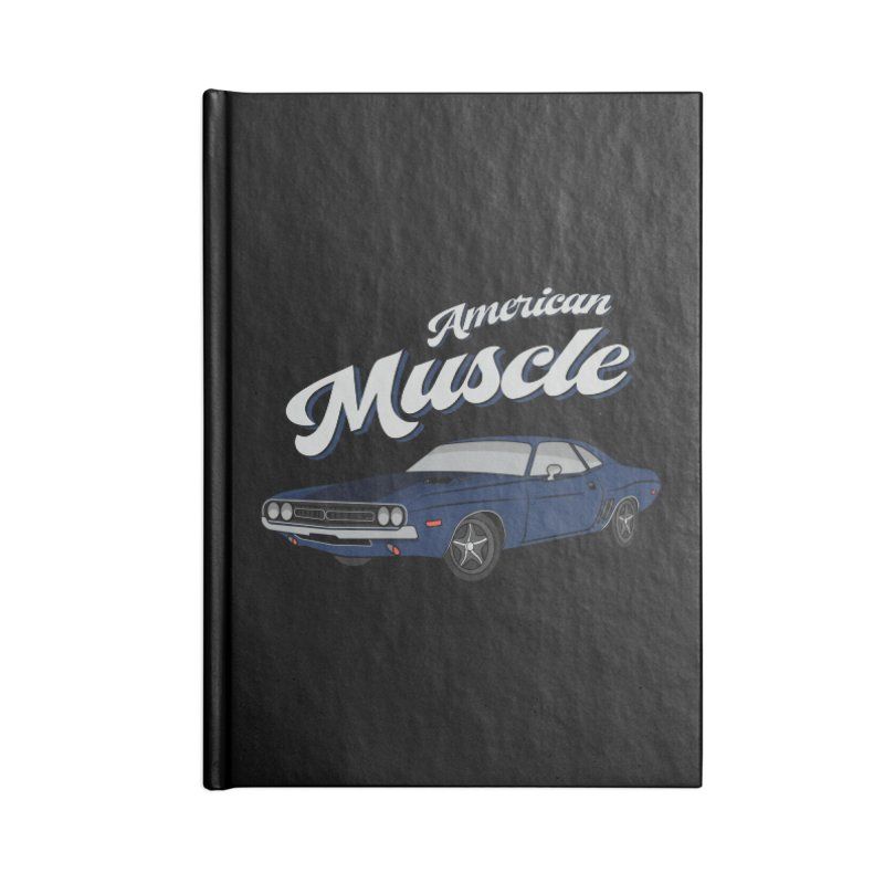 American Muscle Car 60s 70s Vintage Accessories Lined Journal Notebook by MadeByBono