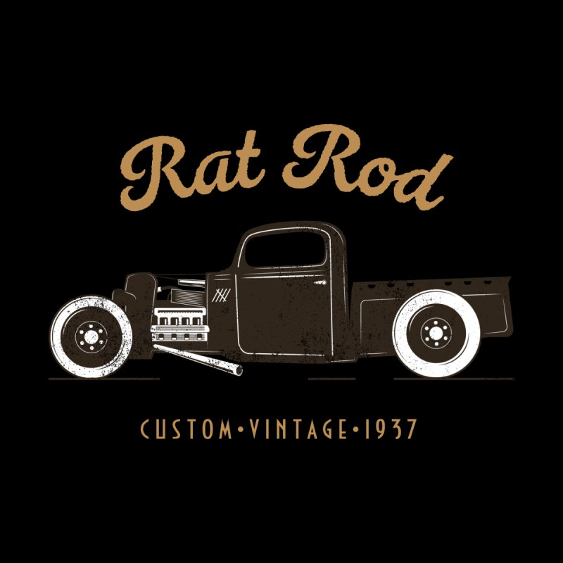 Rat Rod Vintage Hot Rod T-shirt Home Throw Pillow by MadeByBono