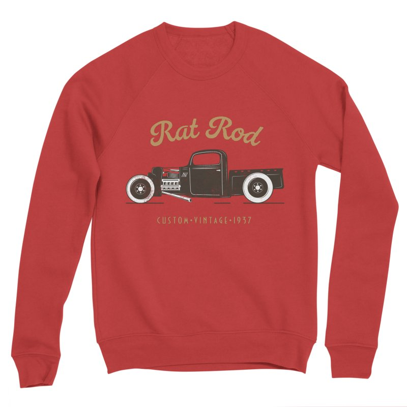 Rat Rod Vintage Hot Rod Men's Sponge Fleece Sweatshirt by MadeByBono