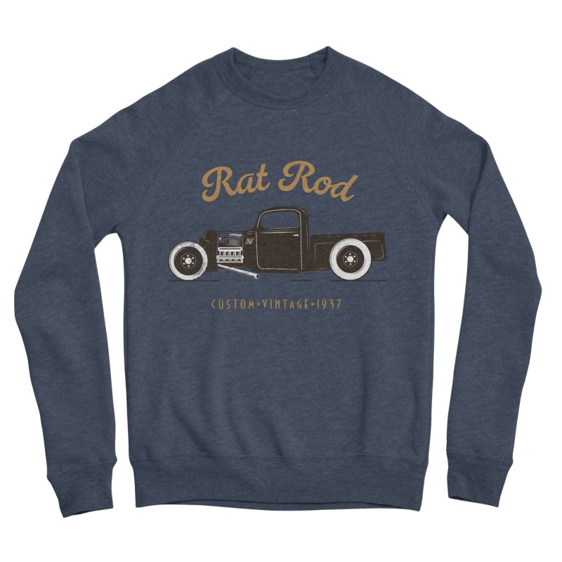 Rat Rod Vintage Hot Rod Women's Sponge Fleece Sweatshirt by MadeByBono
