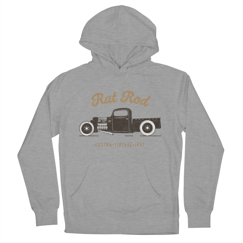 Rat Rod Vintage Hot Rod Women's French Terry Pullover Hoody by MadeByBono