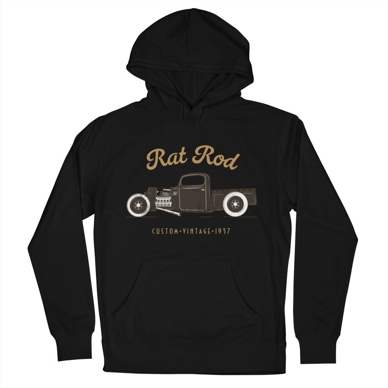 Rat Rod Vintage Hot Rod Men's French Terry Pullover Hoody by MadeByBono