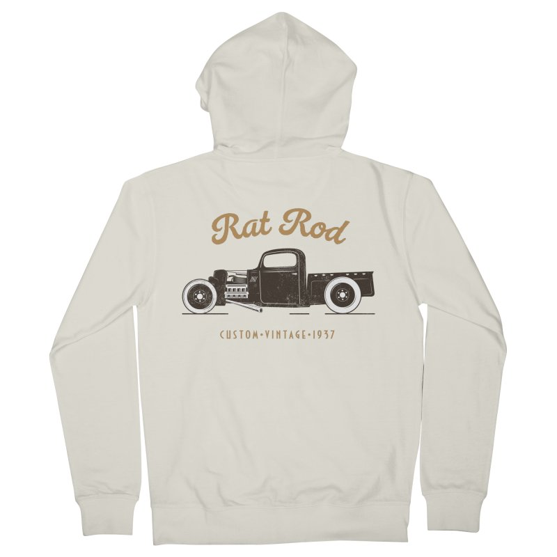 Rat Rod Vintage Hot Rod Women's French Terry Zip-Up Hoody by MadeByBono