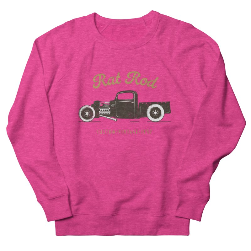 Rat Rod Vintage Hot Rod Women's French Terry Sweatshirt by MadeByBono