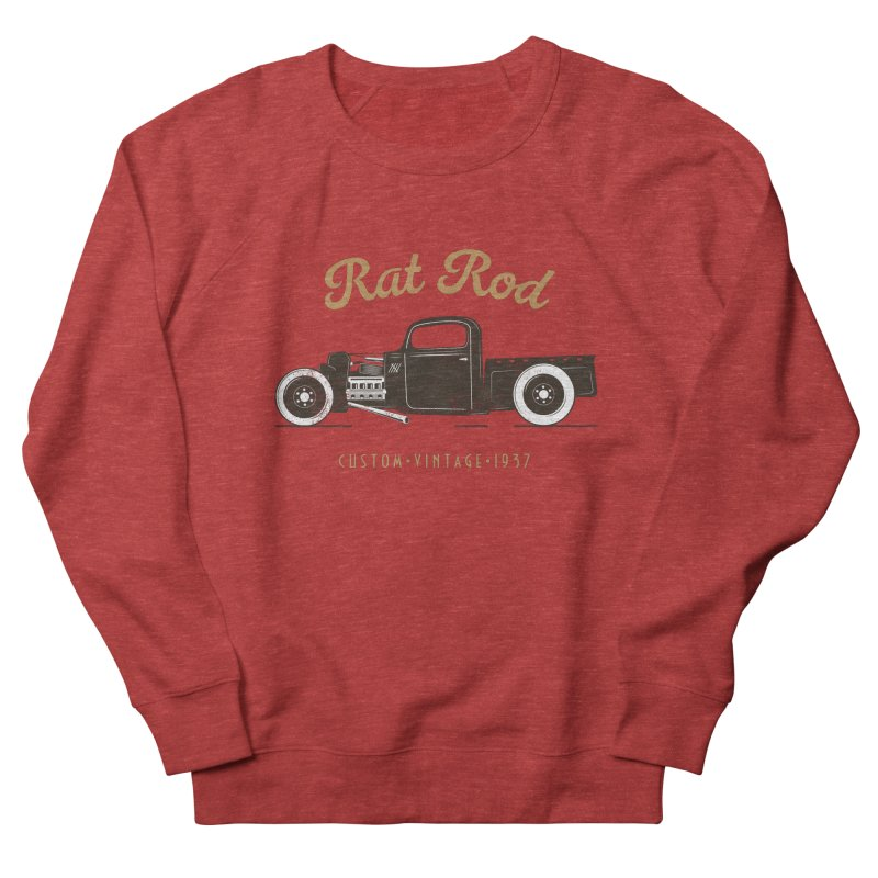 Rat Rod Vintage Hot Rod Men's French Terry Sweatshirt by MadeByBono