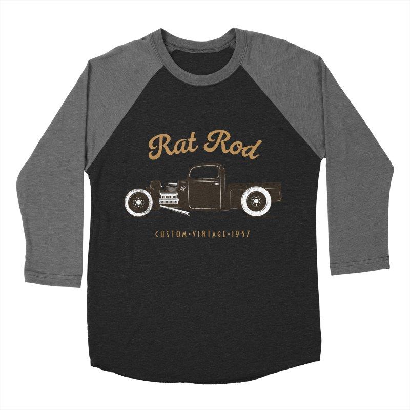 Rat Rod Vintage Hot Rod T-shirt Women's Baseball Triblend Longsleeve T-Shirt by MadeByBono