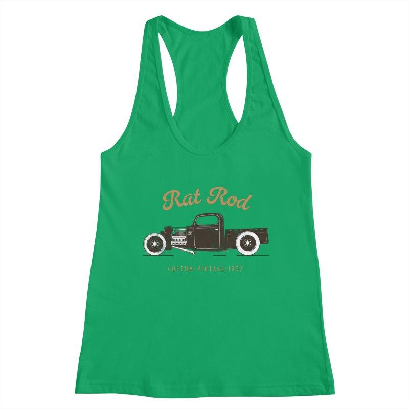 Rat Rod Vintage Hot Rod T-shirt Women's Tank by MadeByBono