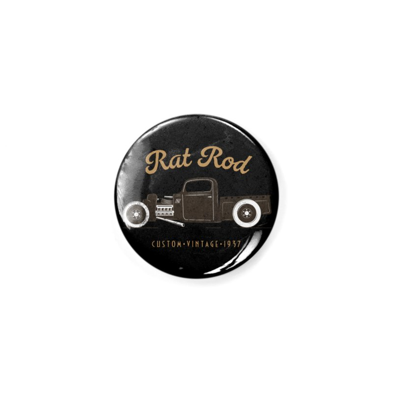 Rat Rod Vintage Hot Rod Accessories Button by MadeByBono