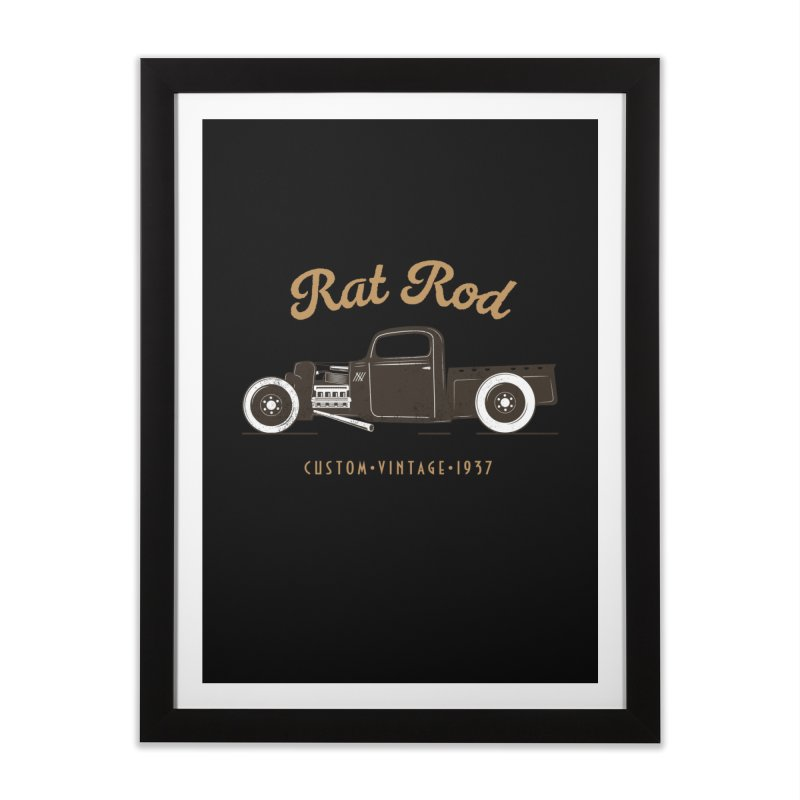 Rat Rod Vintage Hot Rod Home Framed Fine Art Print by MadeByBono