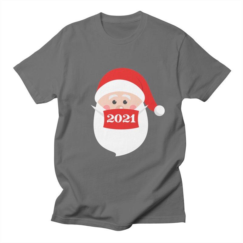 Santa Wearing Mask - Quarantine Christmas 2021 Women's T-Shirt by Made By Bono