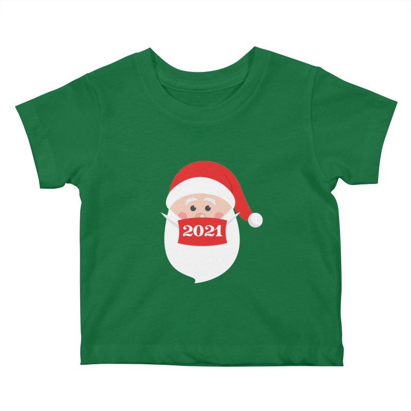 Santa Wearing Mask - Quarantine Christmas 2021 Kids Baby T-Shirt by Made By Bono
