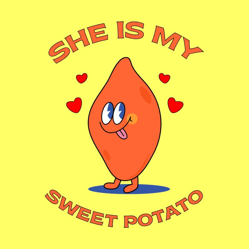 She Is My Sweet Potato I YAM Couple's Matching Thanksgiving Kids T-Shirt by Made By Bono