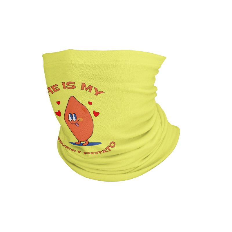 He Is My Sweet Potato I YAM Couple's Matching Thanksgiving Accessories Neck Gaiter by Made By Bono