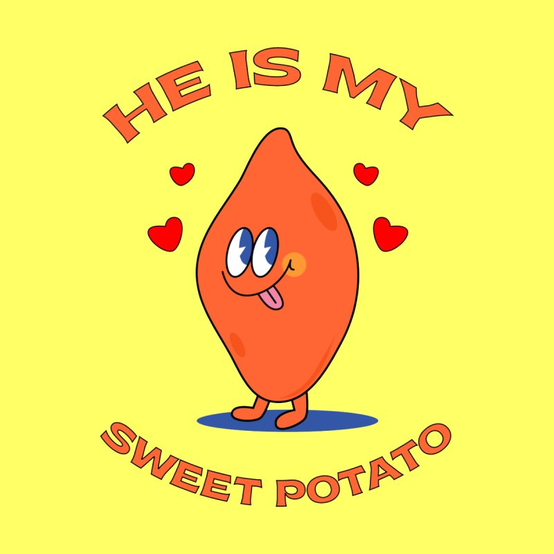 He Is My Sweet Potato I YAM Couple's Matching Thanksgiving Kids Baby T-Shirt by Made By Bono