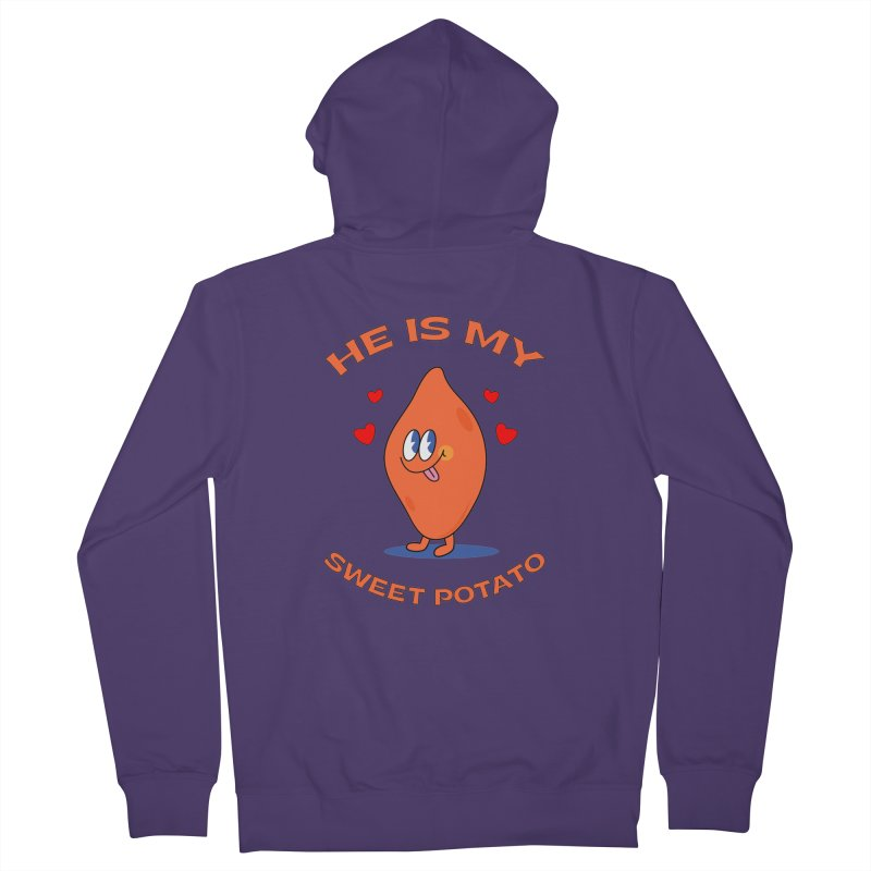 He Is My Sweet Potato I YAM Couple's Matching Thanksgiving Women's Zip-Up Hoody by Made By Bono