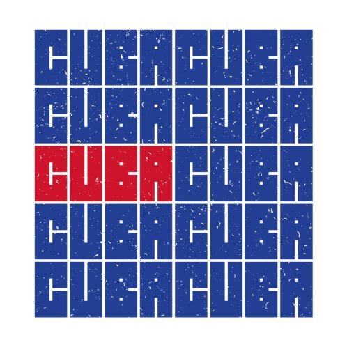 Design for Cuba Cuban Flag Distressed Bandera de Cuba T-shirt