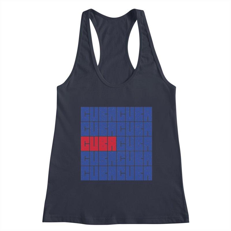 Cuba Cuban Flag Distressed Bandera de Cuba T-shirt Women's Tank by Made By Bono