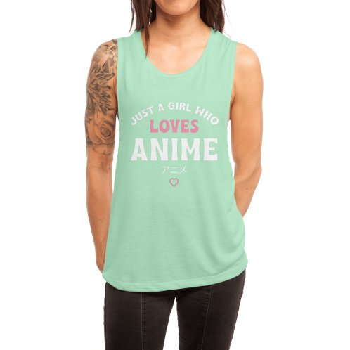 image for Just A Girl Who Loves Anime Gift For Teens Shirt