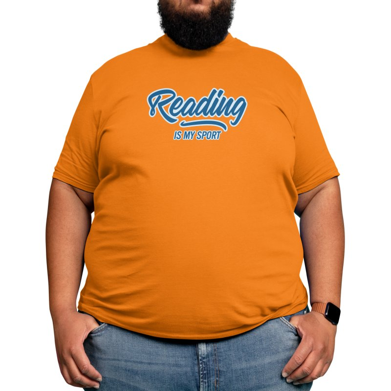 Reading Is My Sport Book Lover Read Teacher Gift T-Shirt Men's T-Shirt by Made By Bono