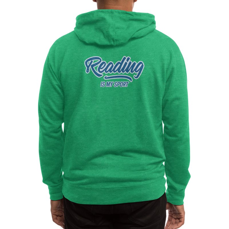 Reading Is My Sport Book Lover Read Teacher Gift T-Shirt Men's Zip-Up Hoody by Made By Bono