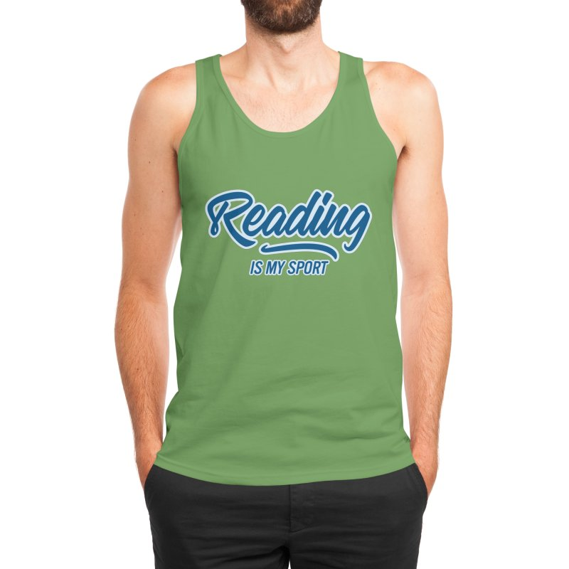 Reading Is My Sport Book Lover Read Teacher Gift T-Shirt Men's Tank by Made By Bono