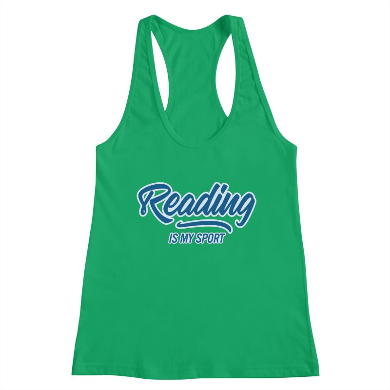 Reading Is My Sport Book Lover Read Teacher Gift T-Shirt Women's Tank by Made By Bono