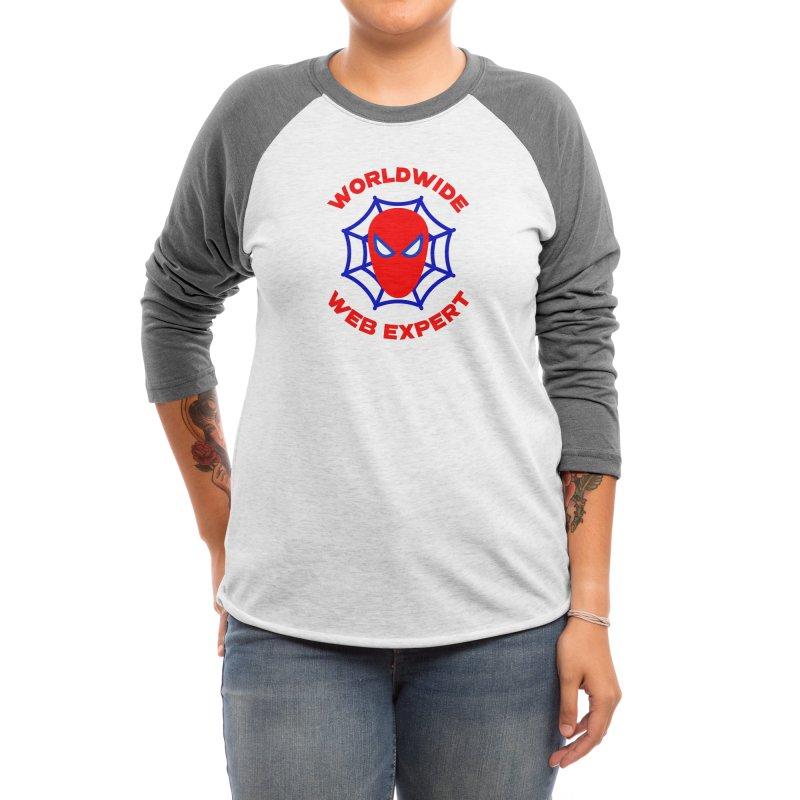 Worldwide Web Expert Funny T-shirt Women's Longsleeve T-Shirt by Made By Bono