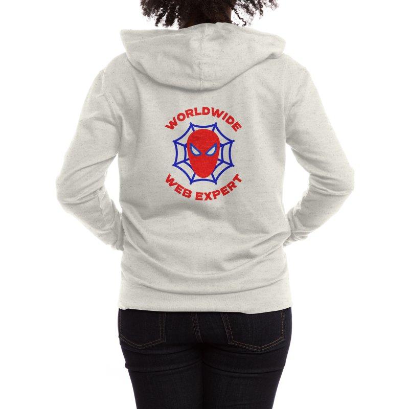 Worldwide Web Expert Funny T-shirt Women's Zip-Up Hoody by Made By Bono